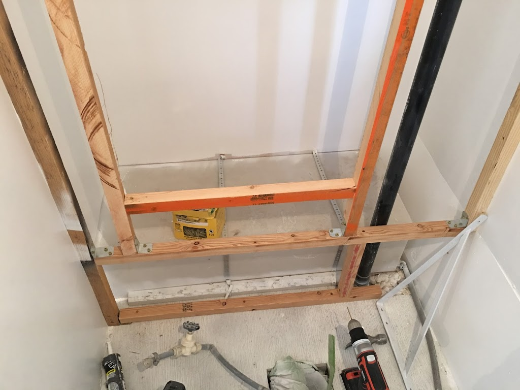 Trailer – Interior Painted, Existing Cabinets Painted, Closet Framed
