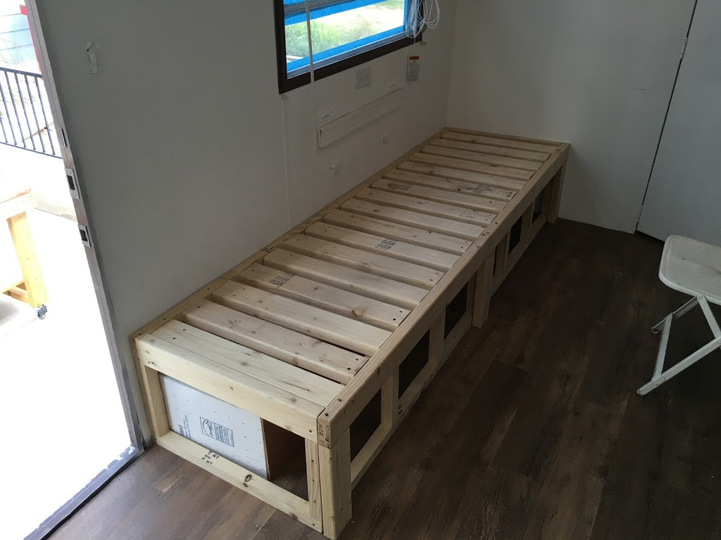 Trailer – Continued progress on the slide-out couch